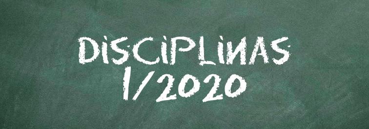 Disciplinas 01/2020